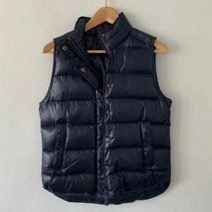 J.Crew Puffer Vest, Navy, Small